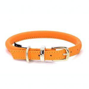 Dogs & Horses Dogs & Horses Lederen Halsband rond oranje