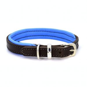 Dogs & Horses Dogs & Horses Lederen Halsband blauw
