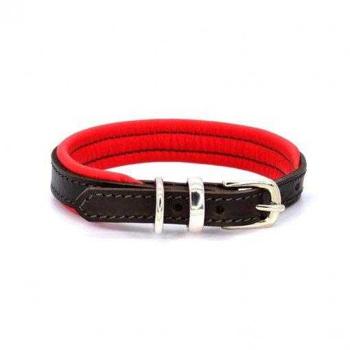 Dogs & Horses Dogs & Horses Lederen Halsband rood