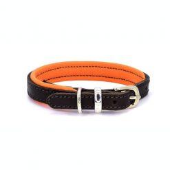 Dogs & Horses Dogs & Horses Lederen Halsband oranje