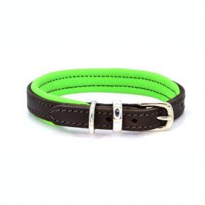 Dogs & Horses Dogs & Horses Lederen Halsband groen