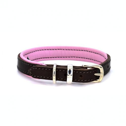 Dogs & Horses Dogs & Horses Lederen Halsband roze