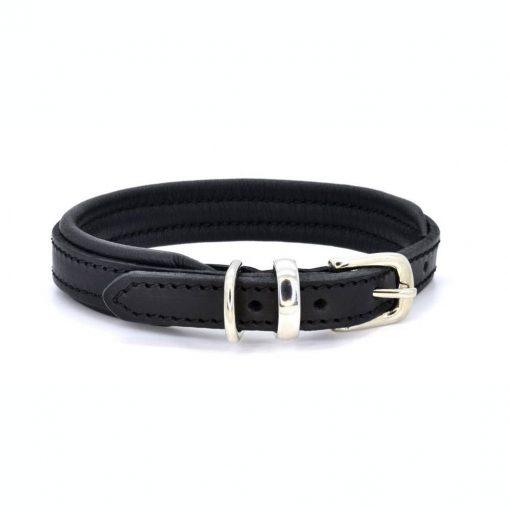 Dogs & Horses Dogs & Horses Lederen Halsband zwart