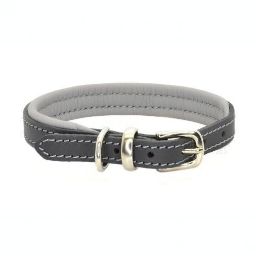 Dogs & Horses Dogs & Horses Lederen Halsband grijs