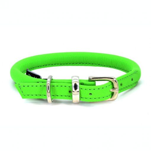 Dogs & Horses Dogs & Horses Lederen Halsband rond groen