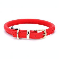 Dogs & Horses Dogs & Horses Lederen Halsband rond rood