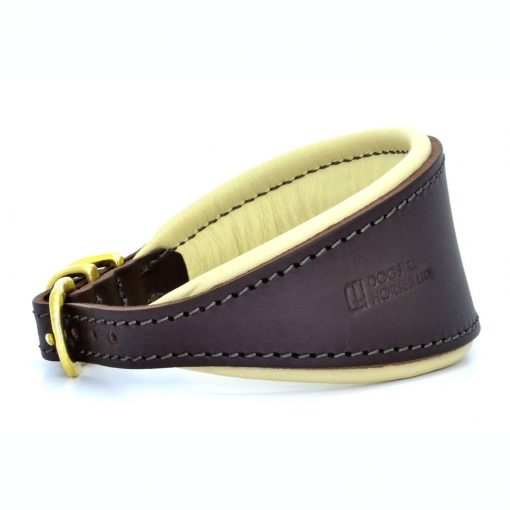 Dogs & Horses Dogs & Horses Honden Halsband bruin/crème