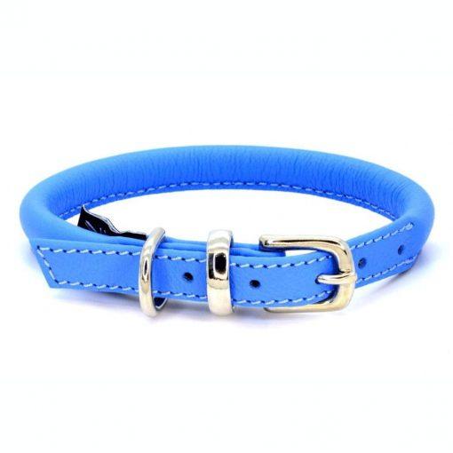 Dogs & Horses Dogs & Horses Lederen Halsband rond blauw