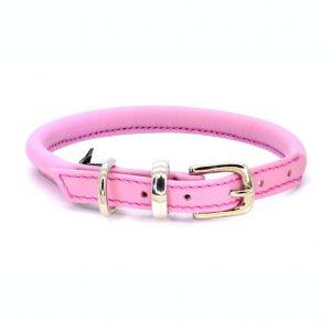 Dogs & Horses Dogs & Horses Lederen Halsband rond roze