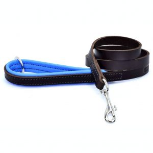 Dogs & Horses Dogs & Horses Gevoerde Lederen Riem blauw