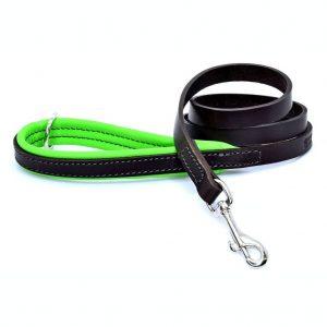 Dogs & Horses Dogs & Horses Gevoerde Lederen Riem groen