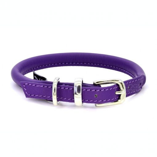Dogs & Horses Dogs & Horses Lederen Halsband rond paars