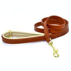 Dogs & Horses Dogs & Horses Gevoerde Leren Hondenriem bruin