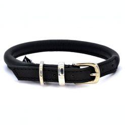 Dogs & Horses Dogs & Horses Lederen Halsband rond zwart/zilver