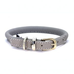 Dogs & Horses Dogs & Horses Lederen Halsband rond grijs
