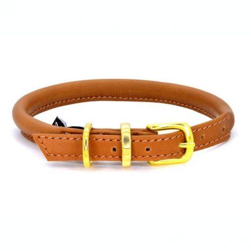 Dogs & Horses Dogs & Horses Lederen Halsband rond bruin
