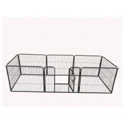 Adori 8-Hoekige Puppy Ren - Hondenbench - 76x81 cm Grijs