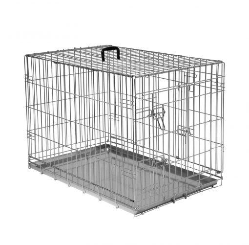 Adori Bench 2-Deurs De Luxe Verzinkt - Hondenbench - 123x77x83 cm