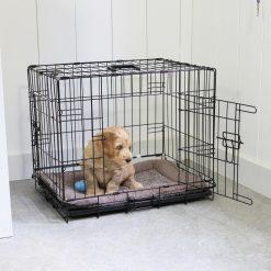 Adori Bench 2-Deurs Zwart - Hondenbench - 76x48x54 cm