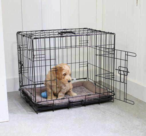 Adori Bench 2-Deurs Zwart - Hondenbench - 92x57x64 cm