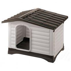 Ferplast Dogvilla Grijs&Bruin - Hondenhok - 111x84x79 cm