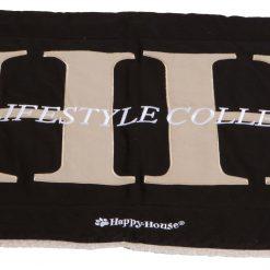 Happy-House Deken Canvas Teddy Hh Zwart - Hondendeken - Large
