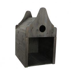 Homestyle Houten Hondenhuis Deluxe - Hondenbed - 75x55x103 cm Grijs Bouwpakket