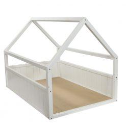 Homestyle Houten Mand Huismodel - Hondenmand - 75x55x55 cm Wit Bouwpakket