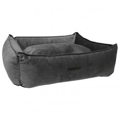 Wooff Mand Cocoon Velours Donkergrijs - Hondenmand - Large