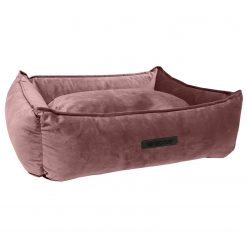 Wooff Mand Cocoon Velours - Hondenmand - 60 x 40 x 18 cm Roze Small
