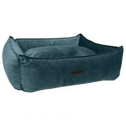 Wooff Mand Cocoon Velours Petrol - Hondenmand - Large