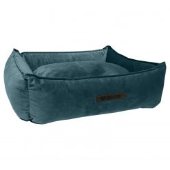 Wooff Mand Cocoon Velours Petrol - Hondenmand - Small