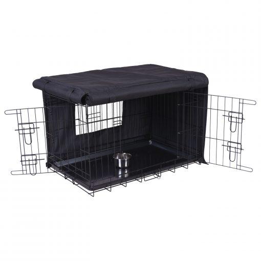 Adori Bench Hoes Zwart - Hondenbench - 80x55x61 cm