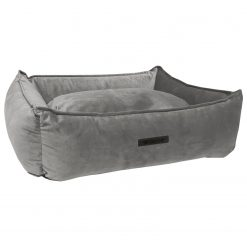 Wooff Mand Cocoon Velours Grijs - Hondenmand - L Stof